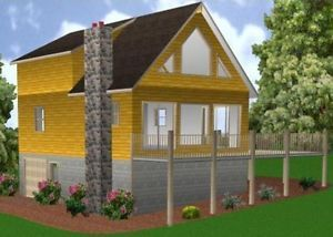 24x34-Cabin-w-Full-Basement-Plans-Package-Blueprints-Material-List
