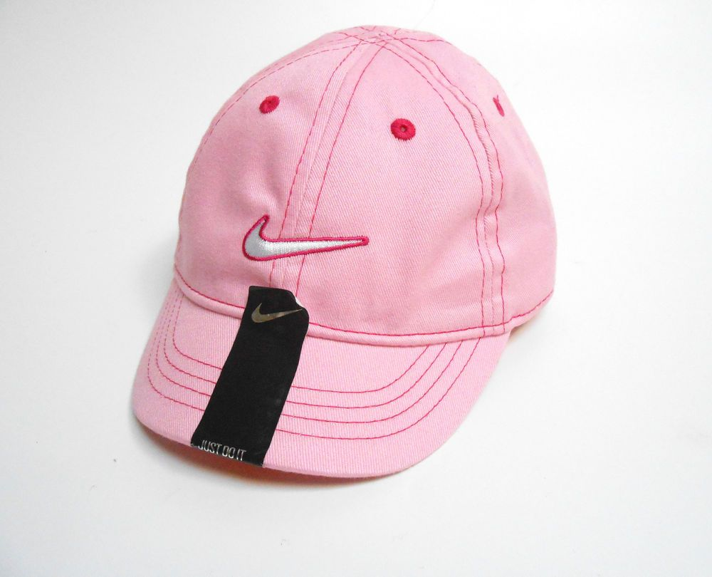 Nike Infant Baby Baseball Hat 12 24 month Pink Cap 100% Cotton Adjustable   Nike fd3dddbc30d
