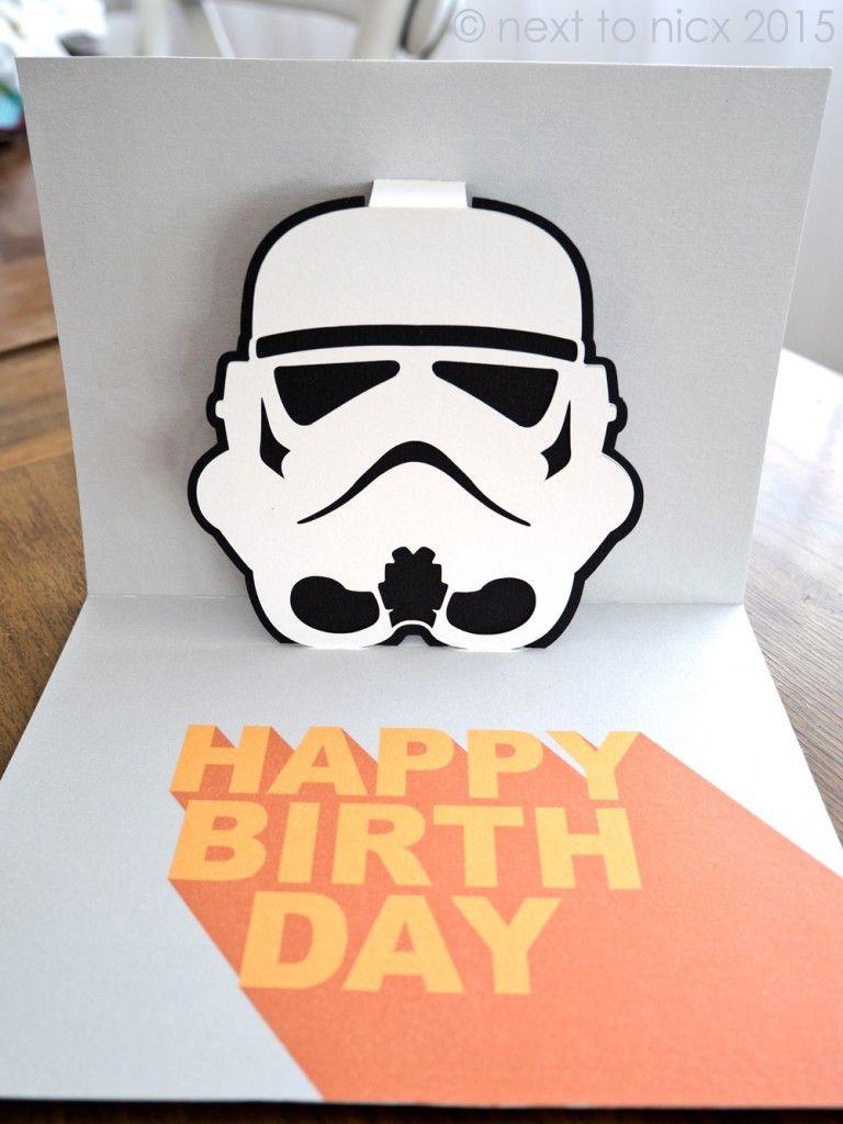 Storm Trooper Pop Up Card Cricut Birthday Cards Birthday Card Template Pop Up Card Templates