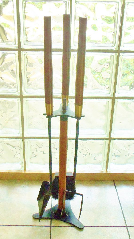 Mid Century Fireplace Tools Modern Danish Style By