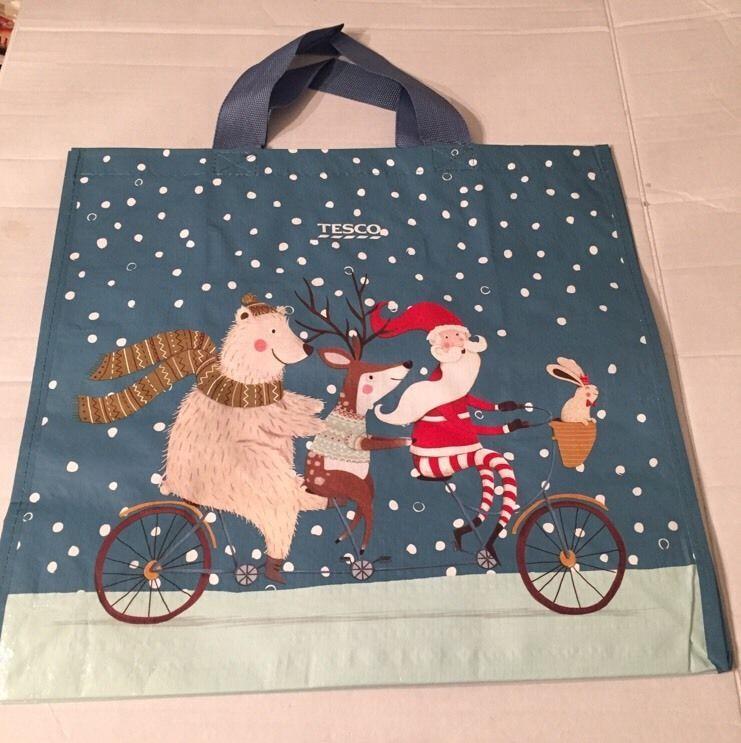 Tesco christmas bag 2015 large bear santa deer bunny tote new eco tesco christmas bag 2015 large bear santa deer bunny tote new eco shopper gift negle Images