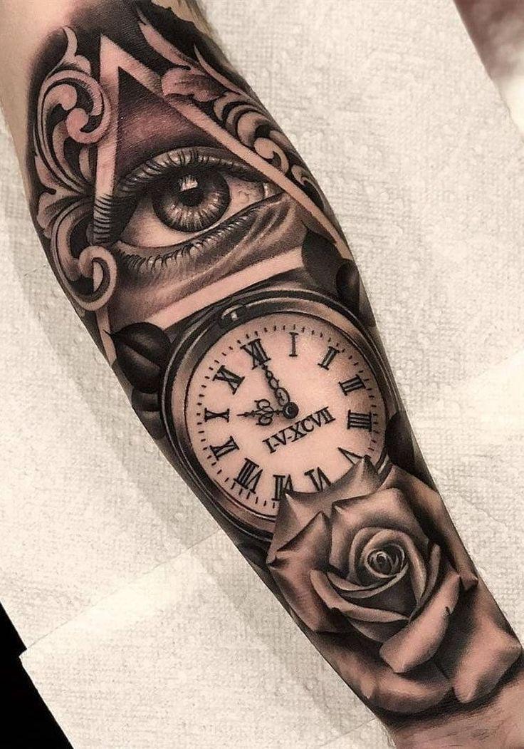Reloj Con Alas Tattoo