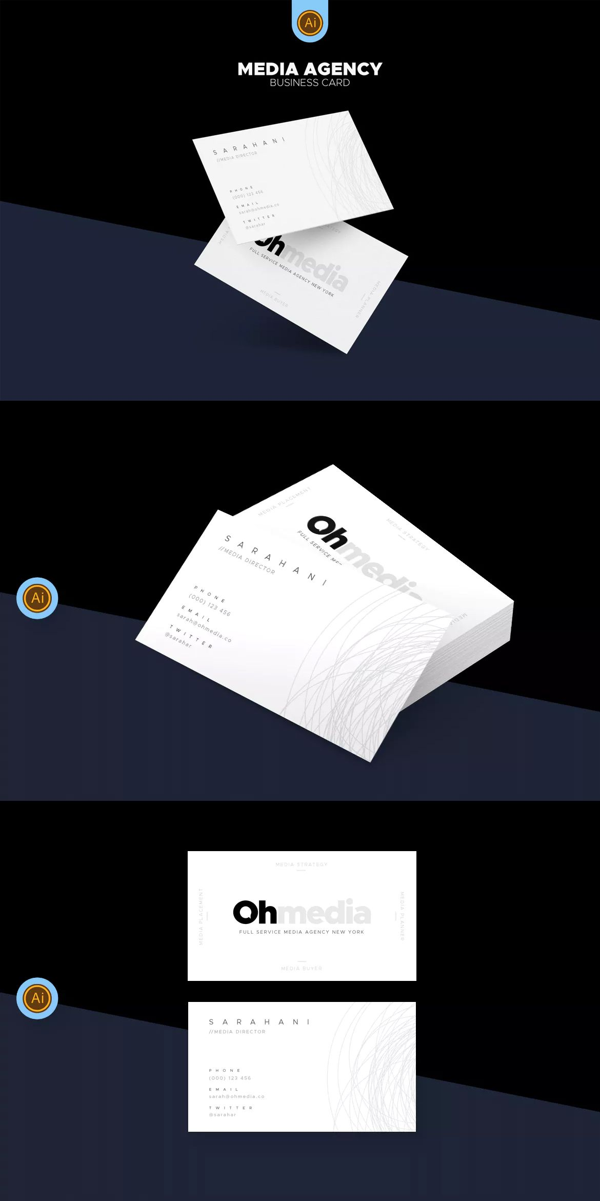 Media agency business card ai eps unlimiteddownloads business media agency business card ai eps unlimiteddownloads flashek