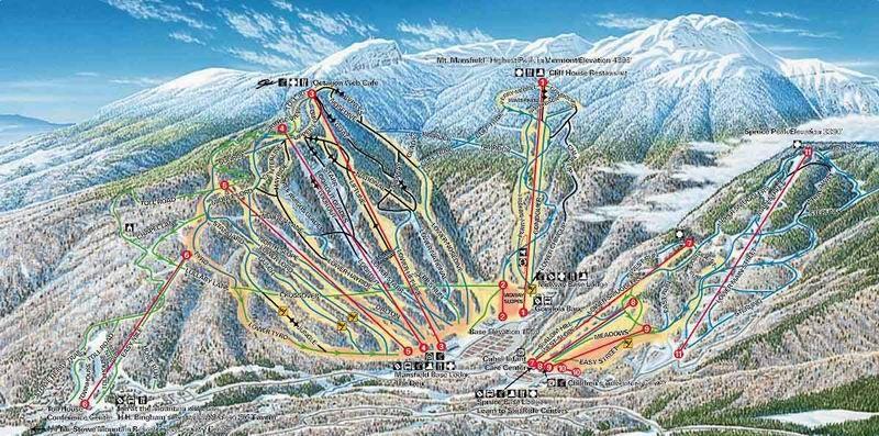Stowe - Trail Map   Skiing   Trail maps, Skiing, Ski mountain on
