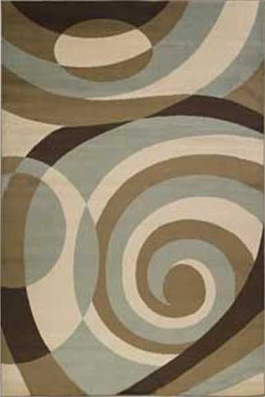 Area Rug With Brown And Mint Green Swirls Mocha Minty