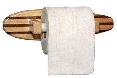 Surfboard toilet paper holder wall mount beach house pinterest wall - Beach toilet paper holder ...