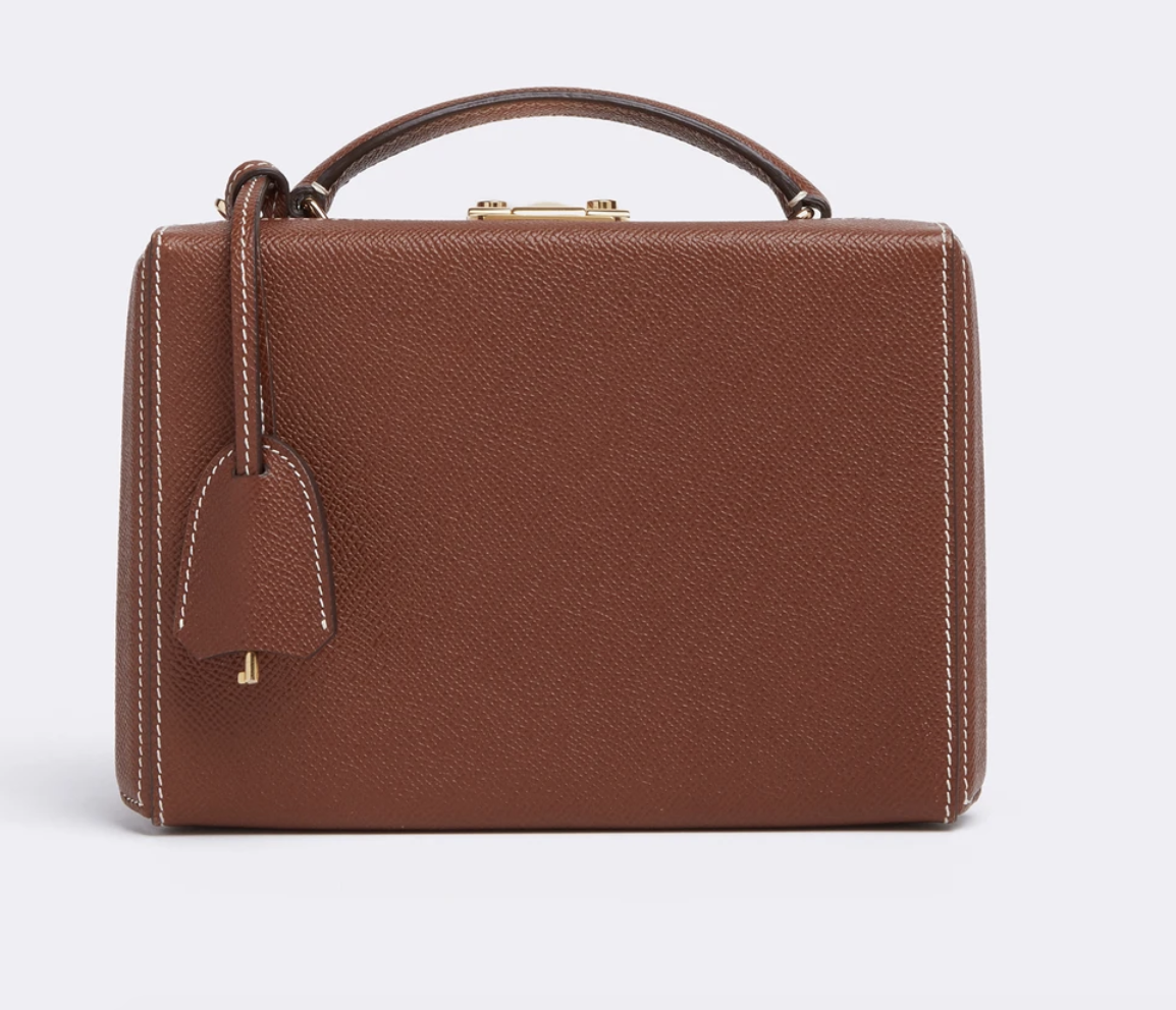 Mark Cross Grace Small Leather Box Bag Saffiano Acorn 2084 In 2020 Leather Box Fashion Wishlist Leather