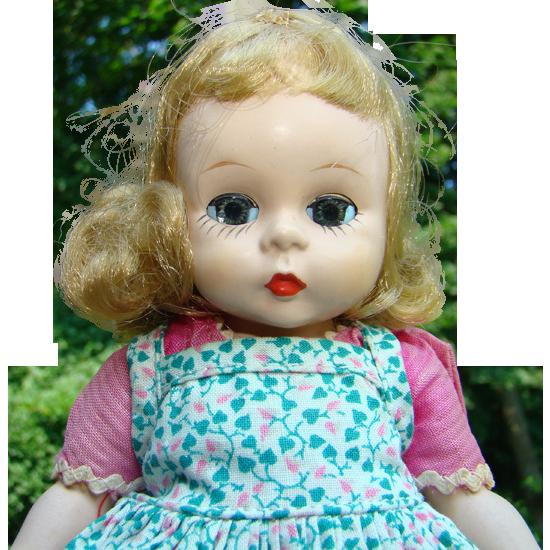 C1953 Alexander-kins Doll Strung Pink Pinafore Dress Madame Alexander