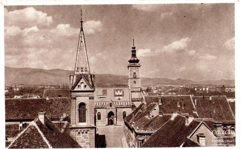 Crkve Sv Marka I Sv Cirila I Metoda 1944 Lokacija Gornji Grad Paris Skyline Zagreb Gornji Grad