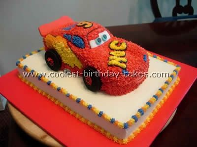 Coolest Cars Cake Decorations and Photos Car cakes Lightning