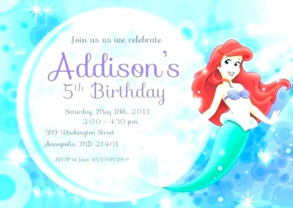 Oh My Fiesta In English Little Mermaid Free Printables Mermaid Party Invitations Mermaid Birthday Invitations Little Mermaid Invitations
