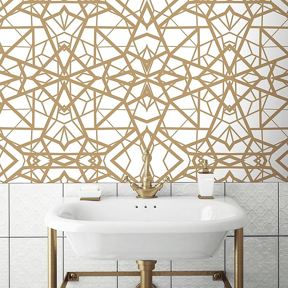 Roommates Shatter Geometric Peel And Stick Wallpaper Bed Bath Beyond Peel And Stick Wallpaper Room Visualizer Modern Color Schemes