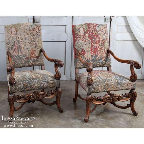 antique furniture antique armchairs pair antique louis xiv