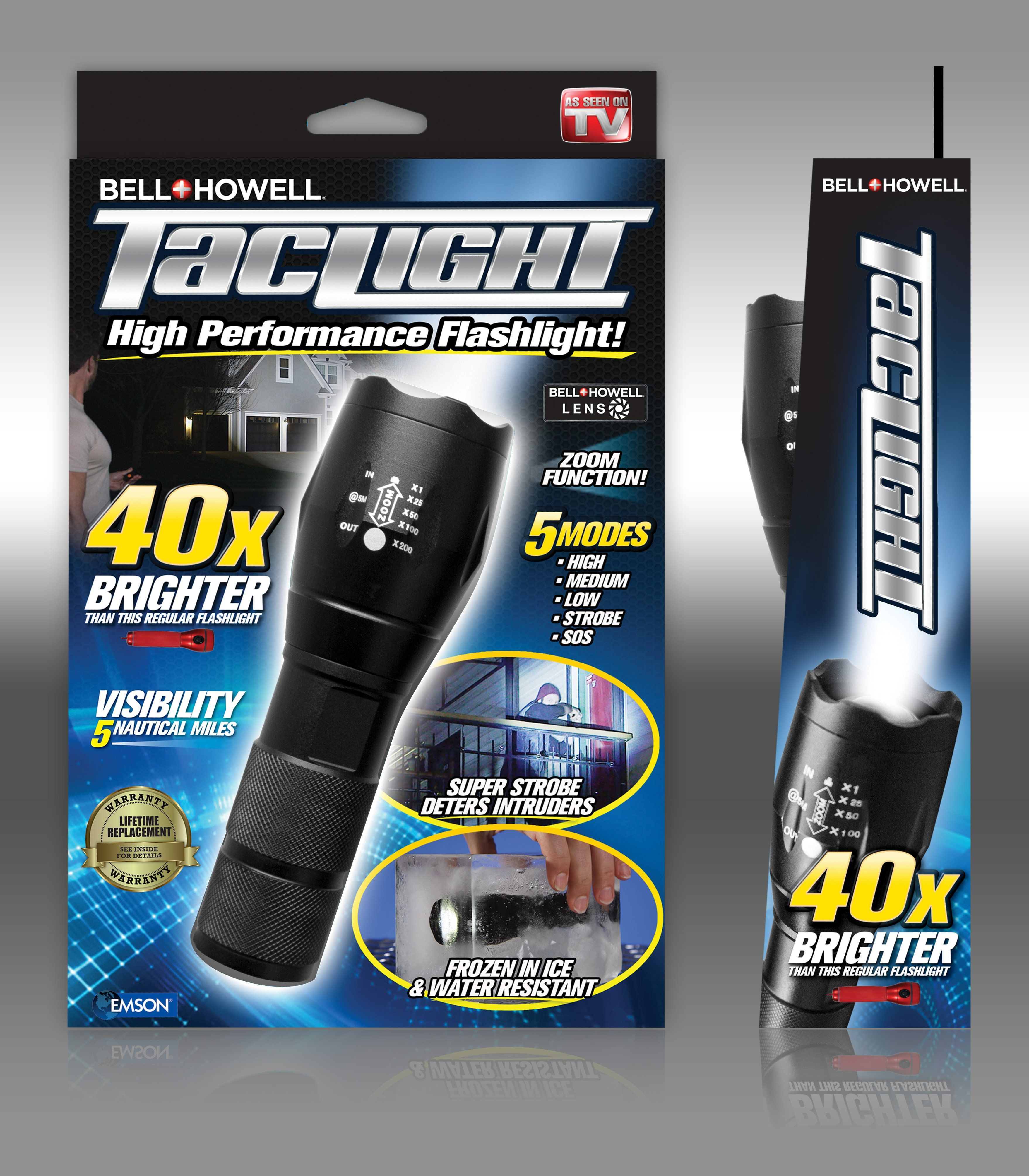 As Seen on TV Bell + Howell Taclight LED Flashlight in 2019