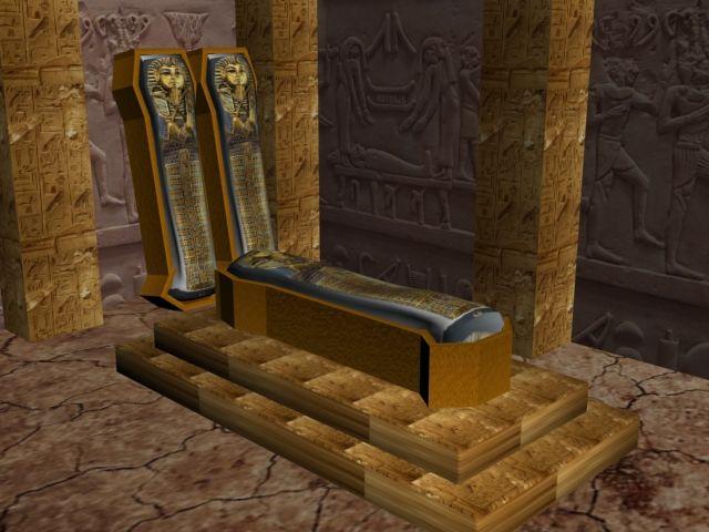 Projeto criado para trabalho da faculdade sobre evolução das artes, feito no 3D max, representação de interior de uma piramide, destacando seus hieróglifos e pinturas..