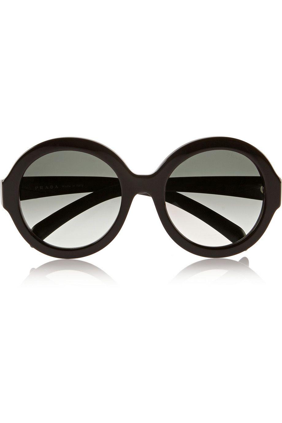 bc1e0ef0b5e Prada - Round-frame acetate sunglasses