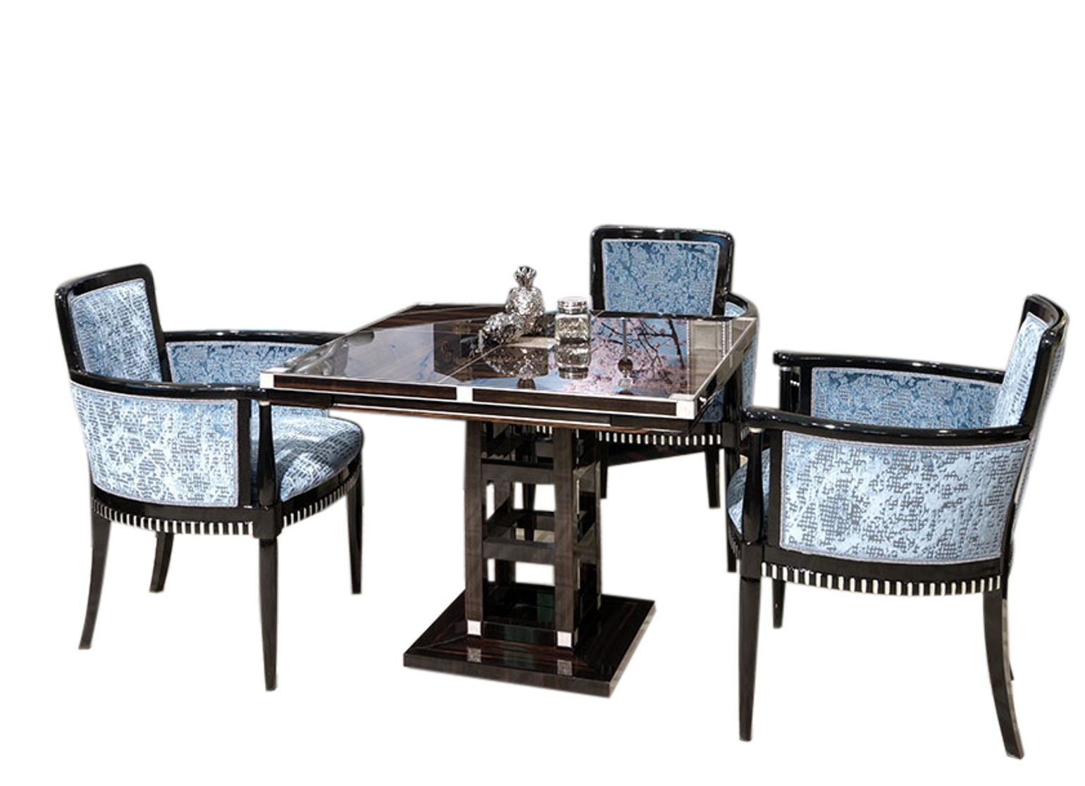 T54204 Square Game Table Contemporary Wood Game Table By