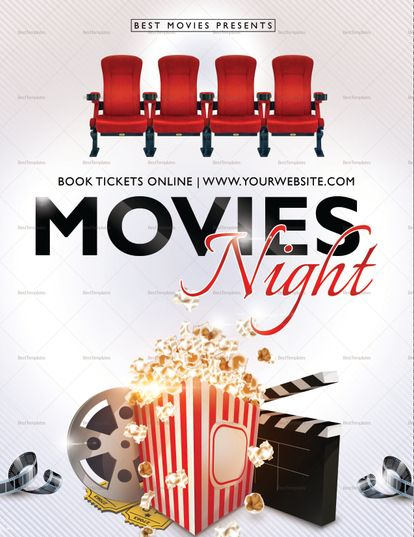 Best Movie Night Flyer Template Flyer Template And Template