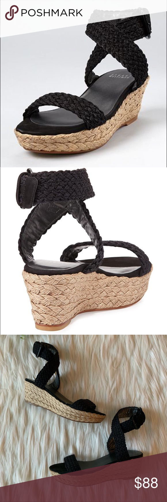 1335d44d6c NIB Ugg Maddie Wedge Sandal The UGG Maddie Wedge Sandal features a cushioned  cork wedge that provides stability with slim leather str…