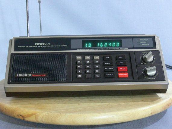 Scanner Uniden Bearcat 800xlt Emergency Radio Mg 071 Etsy Emergency Radio Radio Police Radio