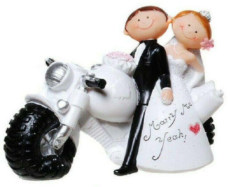 Dekofigur Hochzeit Motorrad Married I Figur Brautpaar