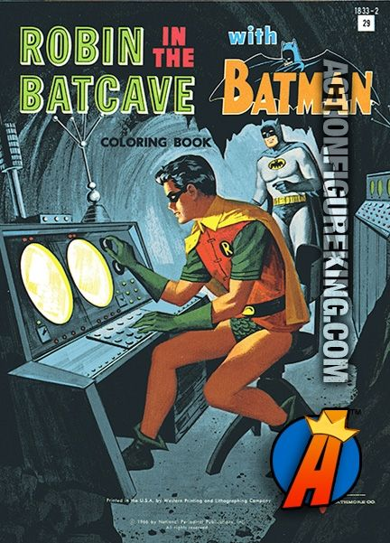1966 Watkins Strathmore 100 Page Robin In The Batcave With Batman Coloring Book Coloringbook Riddler Watkinsstrathmore