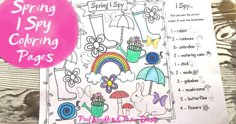 Spring I Spy Coloring Pages | Coloring pages, Rabbit ...