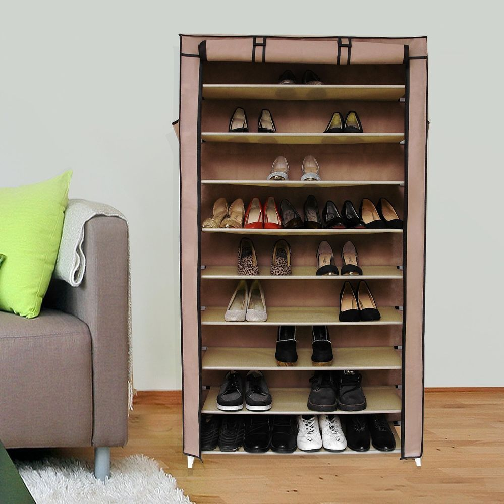 Closet Shelving Unit Shelf Storage Cabinet Freestanding Shoe Organizer Rack  Wall #Unbranded