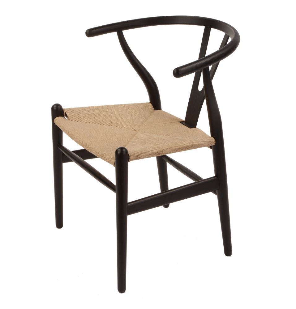 Replica Hans Wegner Wishbone Chair Premium AshBeechBlackColours