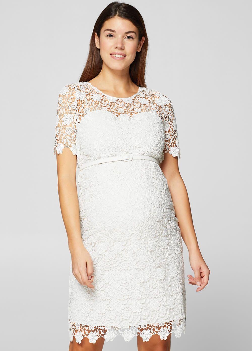 Esprit white lace occasion dress w belt occasion