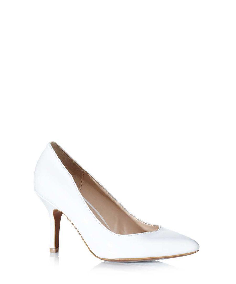 White Mid Heels | Tsaa Heel