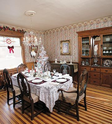 victorian country christmas | Victorian Kitchen Welcomes Christmas | Kitchen Design Ideas | Holiday ...