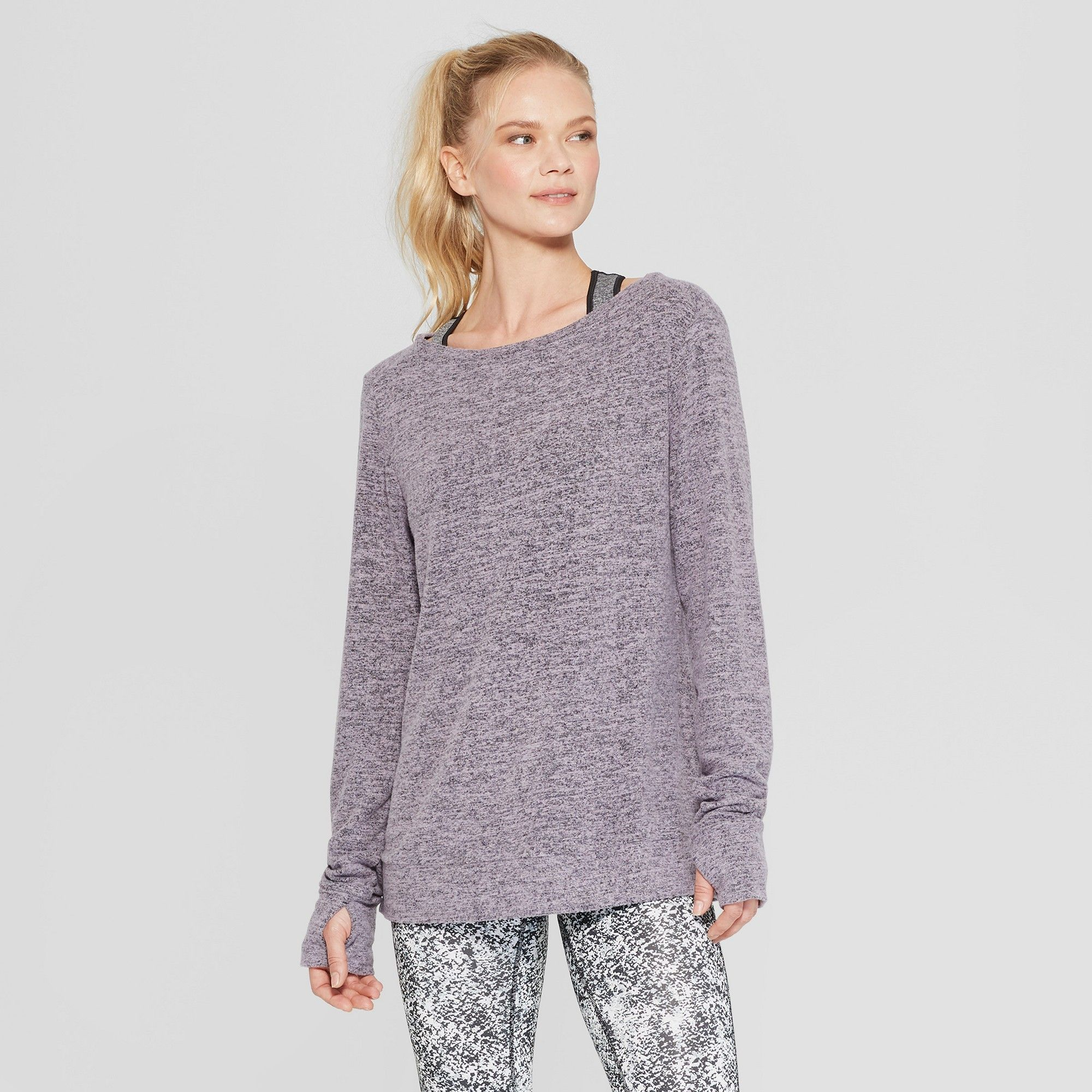 9a1301a9 Women's Long Sleeve Layering Top - C9 Champion Smoked Lilac Heather Xxl