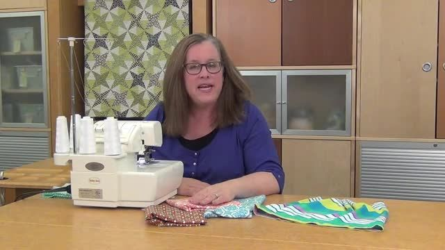 Learn how to use a serger when sewing with knits and other stretchy fabrics.