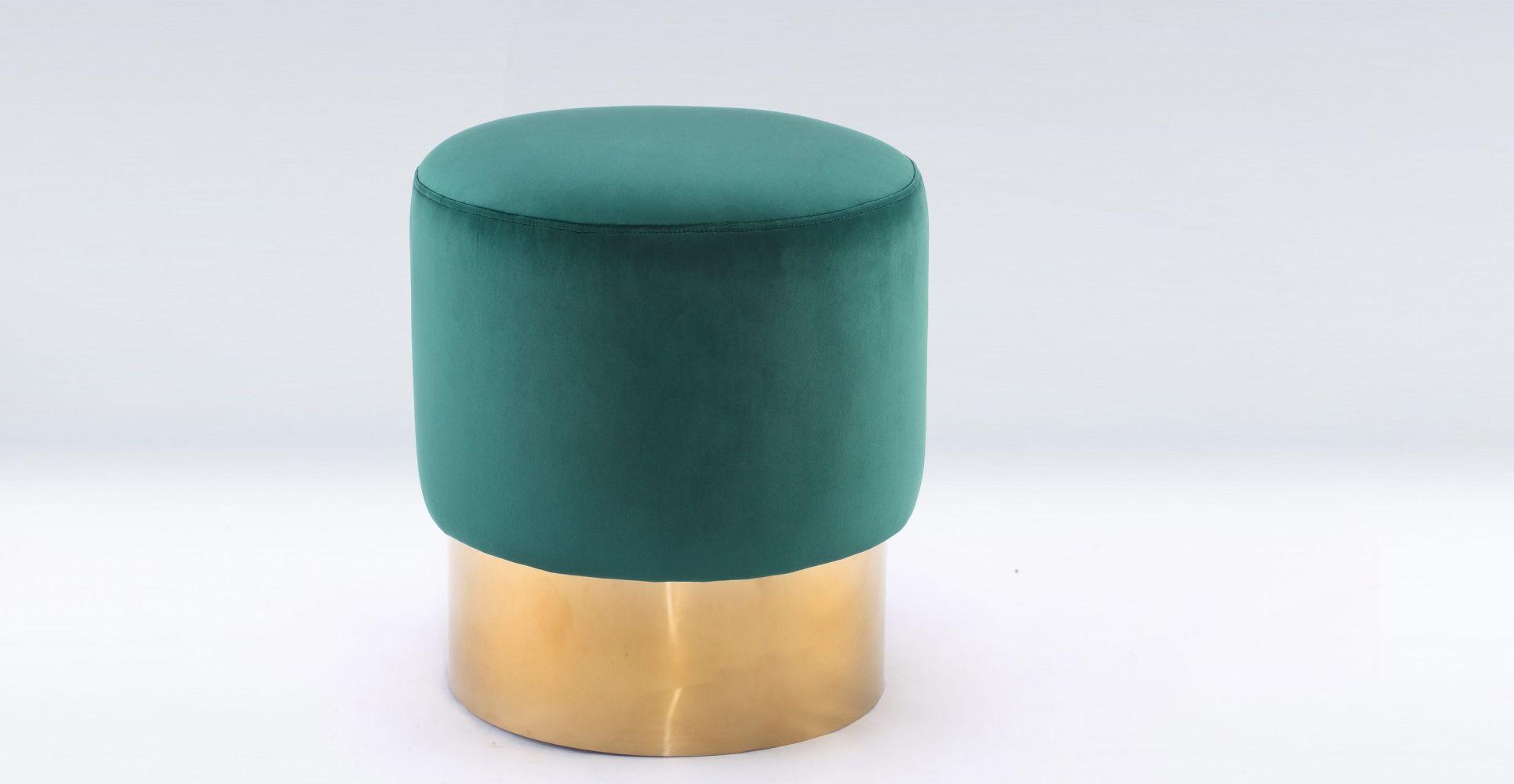 mini me - pouf design en velours de couleur laiton 195€   furniture
