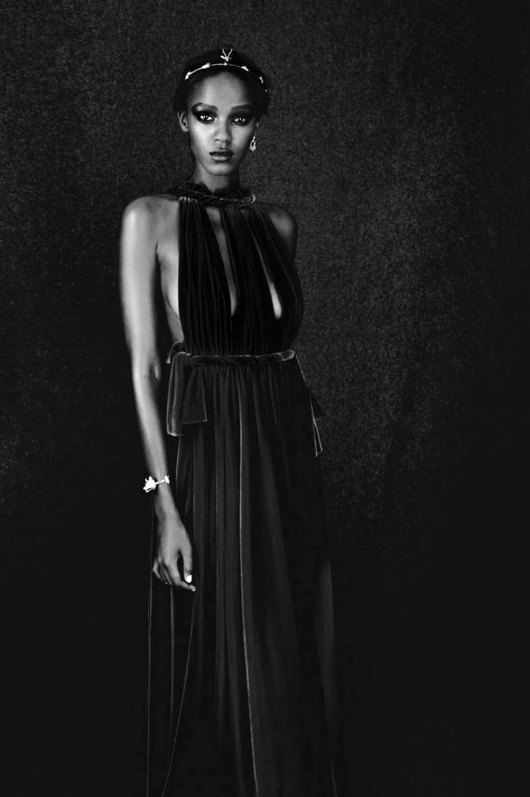 """""""A unique style"""" Leila Nda in Valentino Haute Couture by Paolo Roversi for Vogue Italia, September 2015."""
