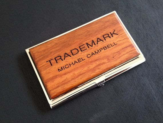 Personalized wood business card case idcard holder graduation gift personalized wood business card case idcard holder graduation gift fathers day gift mens gift corporate gift custom logo design reheart Image collections