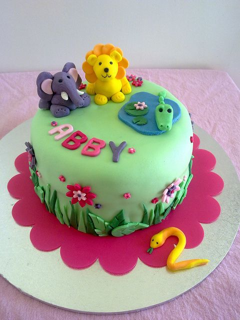My Favourite Of All Own Cakes A Jungle Themed 2nd Birthday Cake White Choc Mud Sandwiched With Sour Cream Ganache And Raspberry Preserves