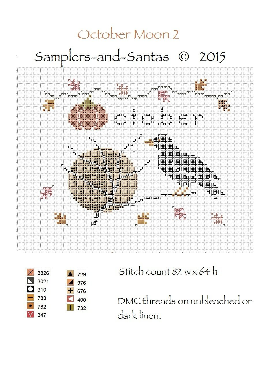 NEW Halloween Treats Cross Stitch Kit and Pattern from The Bee Company