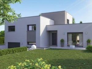 maison design sous-sol toit plat Clara | Maisons contemporaines en ...