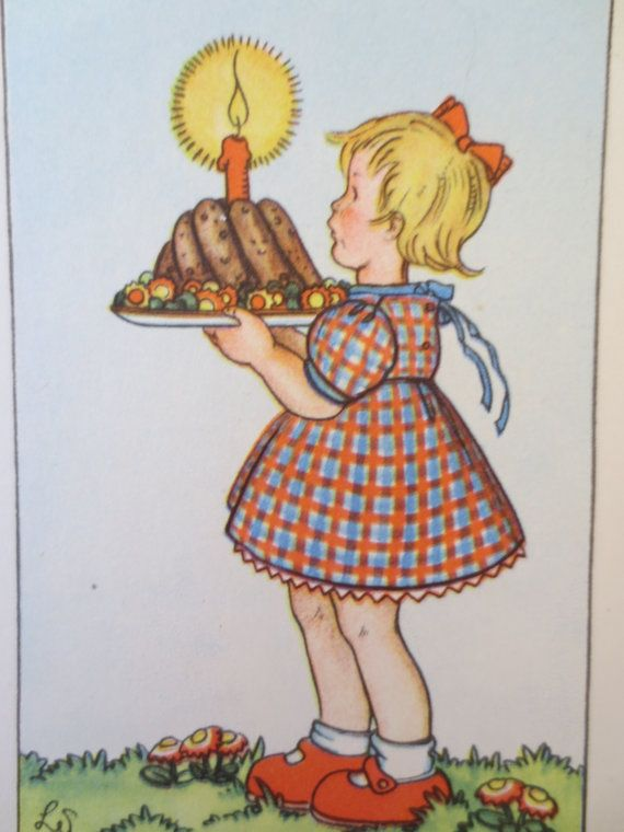 Vintage Postcard Birthday Postcard Birthday Card German Card Happy Birthday Birthday Cake Vintage Birthday Cards Birthday Postcards Valentines Greetings