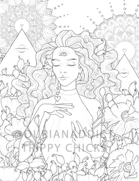 Bundle Two Digital Coloring Books Coloring Pages Printable Etsy Witch Coloring Pages Free Coloring Pages Abstract Coloring Pages