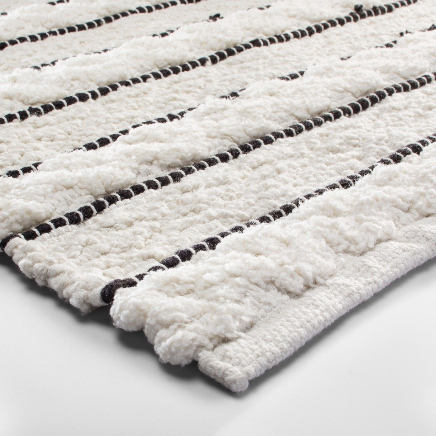 Striped Bath Rug White Black Opalhouse With Images White