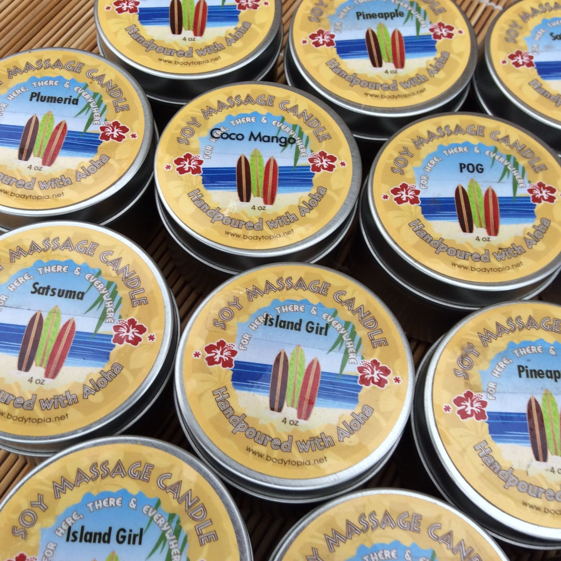 All natural & organic Soy Massage Candles in all your fave fragrances!