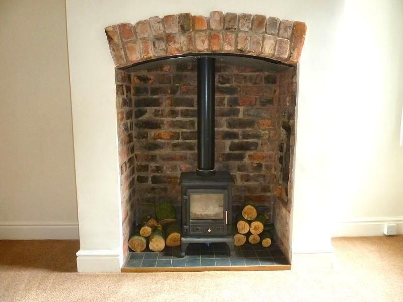 Wood burning stove green recess google search making a home pinterest wood burning Living room ideas with stoves