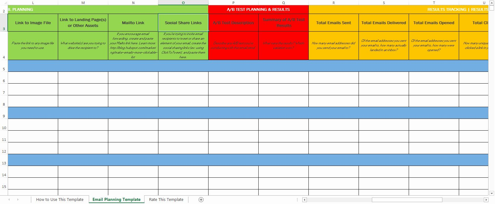 Best Of Marketing Schedule Template Excel In 2020 Email