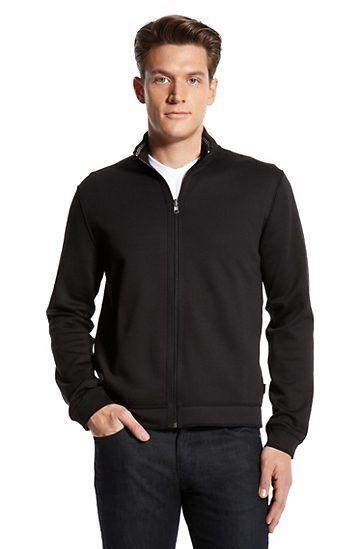 Cardigan Zip 'Cannobio 30' Sweatshirt by BOSS Black