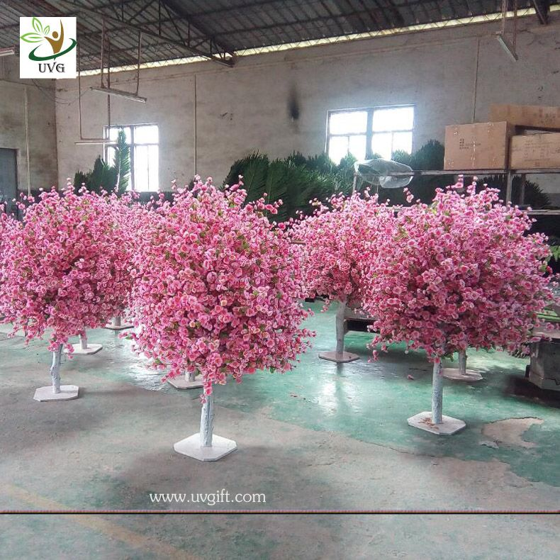 Uvg 4ft Cheap Artificial Trees With Fake Peach Blossoms For Wedding Table Center Pieces Wedding Table Centres Blossom Tree Wedding Peach Blossom Tree