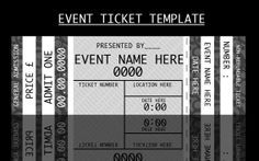 Printable Event Tickets Event Ticket Templateforcertain  Event  Pinterest  Ticket .
