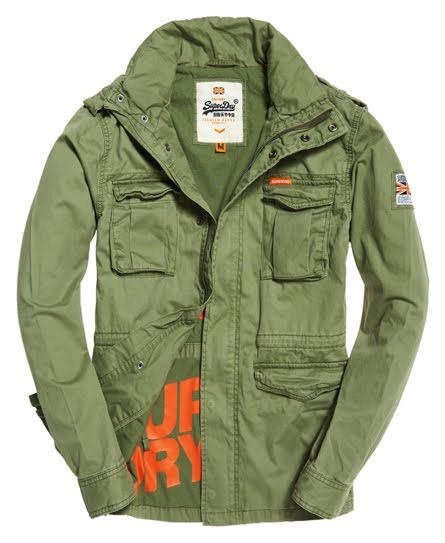 Superdry Rookie Military Jacket Green | Military jacket